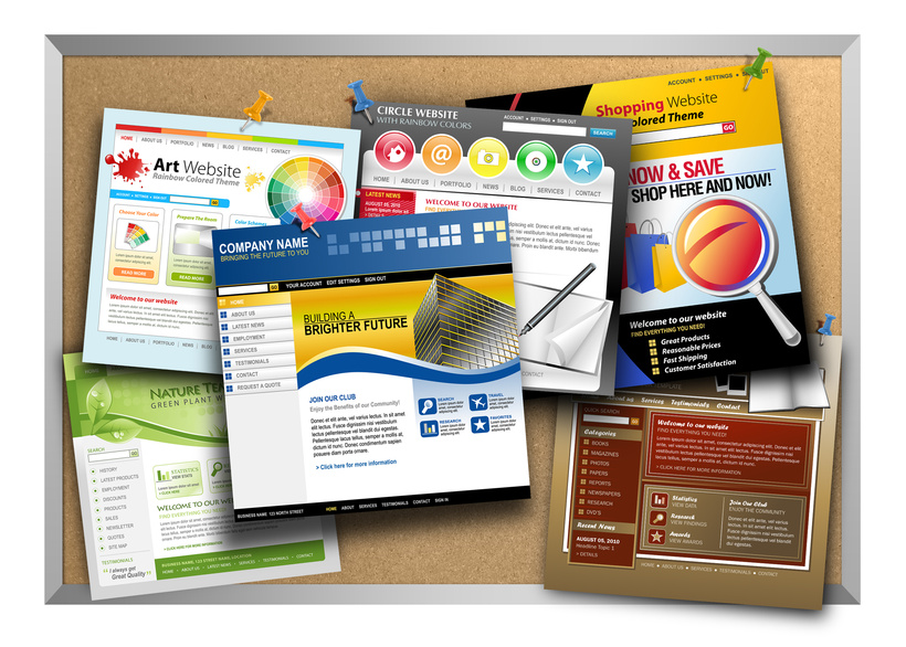 website design on bulletin board for Website Design Features Chicago