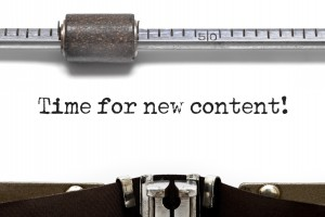 Typewriter Showing Content Creation