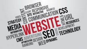 Website word cloud about web design in Griffith