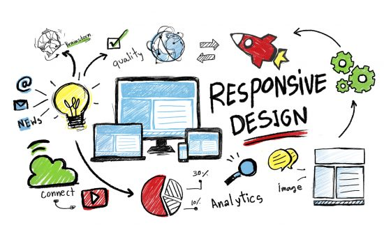 Responsive web design drawing from Crete website design company