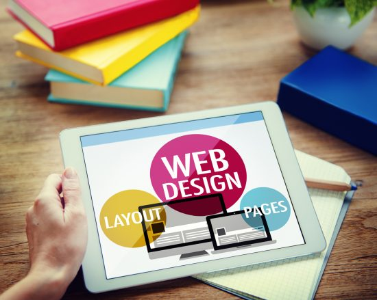 Web design content on iPad from Orland Park web design company