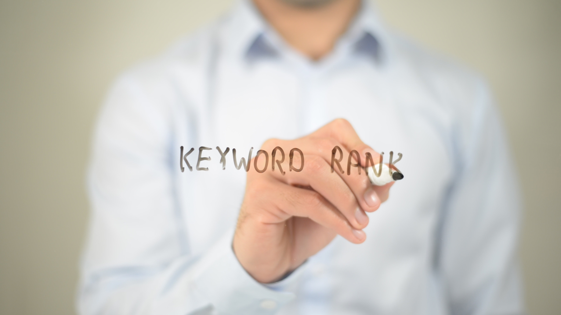 Keyword Rank on transparent screen and if you need quality SEO contact us in Crown Point today.
