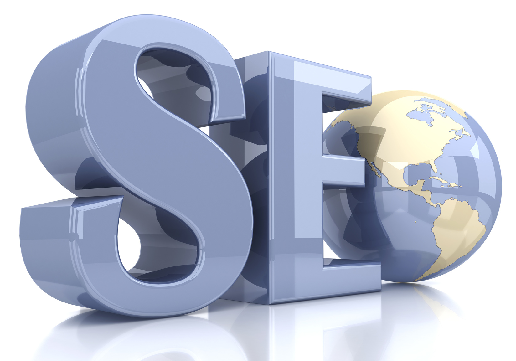 SEO design that features a world globe and if you need SEO content development contact a company that delivers in Crown Point.
