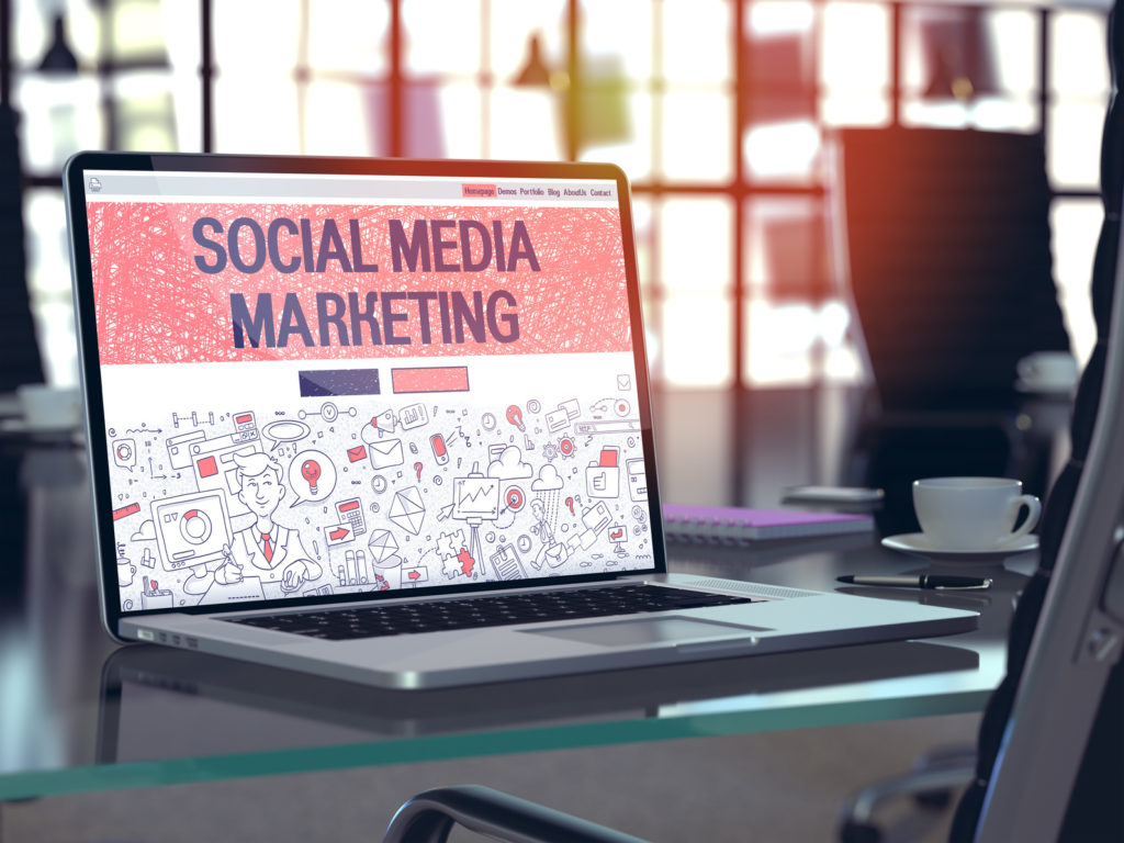 Social media marketing concept for increasing your company's online presence with an experienced digital marketing company in the Chicagoland area.