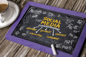 social media concept for developing effective content with a digital marketing company in Dyer