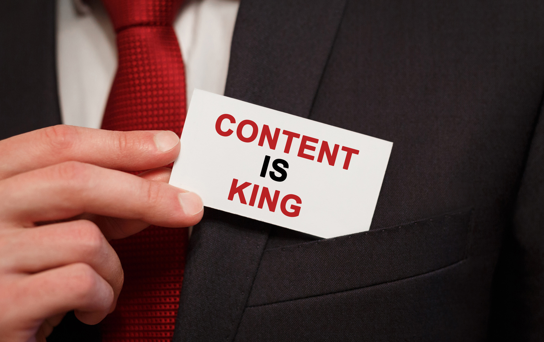 Content is King concept for content marketing strategies in Chicago.