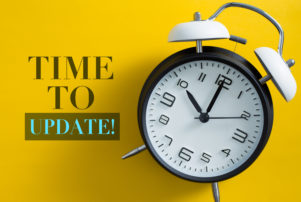 time to update with alarm clock representing how our Merrillville website development company can refresh your website for the new year
